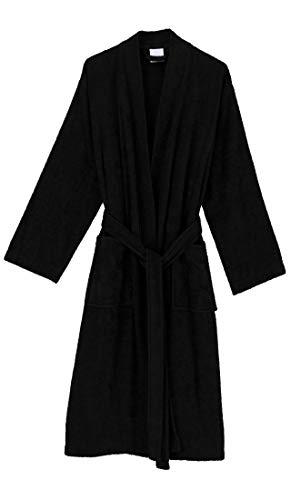 - TowelSelections Men's Robe, Turkish Cotton Terry Kimono Bathrobe X-Large/XX-Large Caviar
