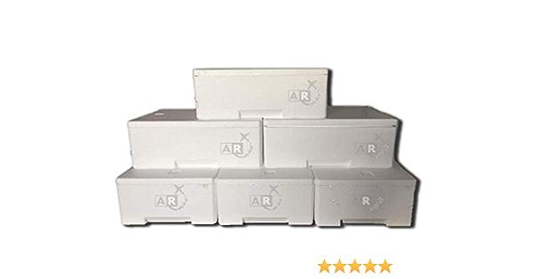 6 unidades – Caja térmica – Caja térmica de poliestireno – Caja térmica – Caja térmica – Transporte para alimentos – De 3/5/6/7/10/15/20/30 kg, 3 KG, Bianco: Amazon.es: Bricolaje y herramientas