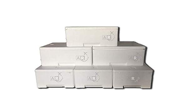 pz. 6 Caja térmica de poliestireno para transporte Alimentos -, 3 ...