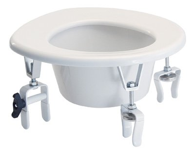 NEW Adjustable Height Raised Elevated Toilet Seat Riser by AMS