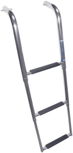 Windline UP-3X Marine Stainless Steel Under Platform Telescoping Boat Ladder ()