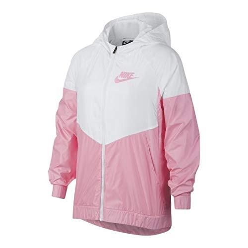 (NIKE Big Kids' Sportswear Windrunner Jacket - Pink/White (M))