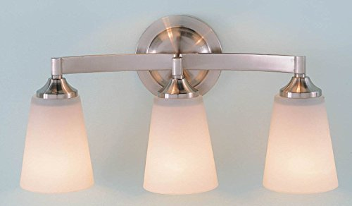 Feiss VS9403-BS Gravity Glass Wall Vanity Bath Lighting, Satin Nickel, 3-Light (18