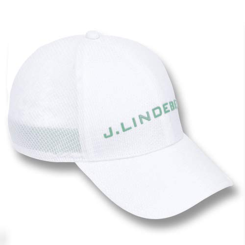 J.Lindeberg Ace Mesh Seamless 86MG Golf Cap White Medium
