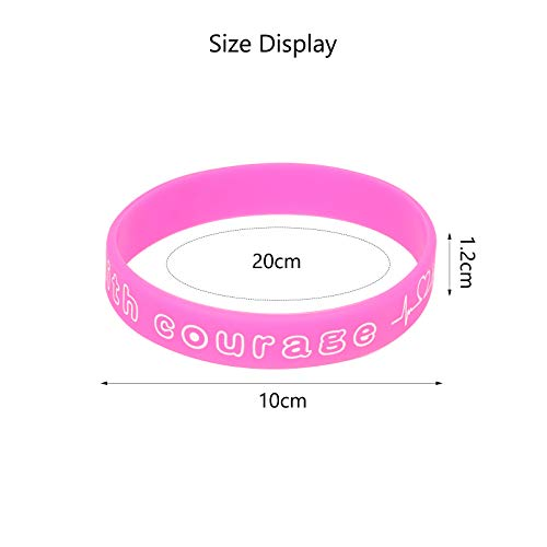 Matogle 36pcs Rubber Wristbands Rubber Band Bracelets for Gift Party Supplies Bag Fillers School Class Rewards Kids Adult Teenager Pink Red White