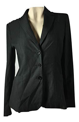 (Elie Tahari Women's Bailey Pinstripe Suit Jacket Blazer Black/Creme Size 8)