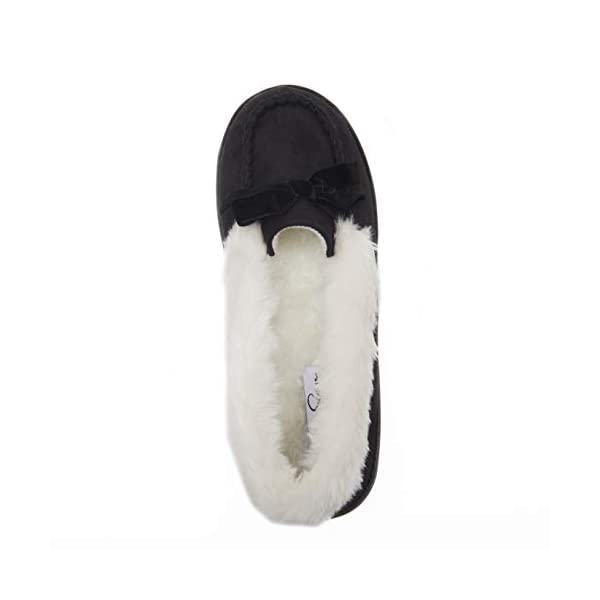 Jessica Simpson Womens Micro Suede Moccasin Indoor Outdoor Slipper Shoe