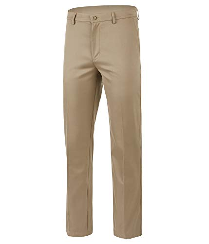 Greg Norman Mens 5 Iron Perfomance Casual Chino Pants, Beige, 36W x 34L