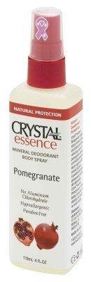 Crystal Essence Pomegranate Mineral Deodorant Body Spray, 4 Ounce - 6 per case.