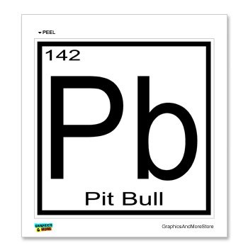 pit bull pb periodic table window bumper locker sticker - Periodic Table Symbol Pb
