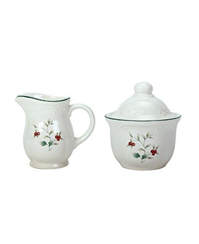 - Pfaltzgraff 10902000 Winterberry Sugar and Creamer Dinnerware Set, Assorted