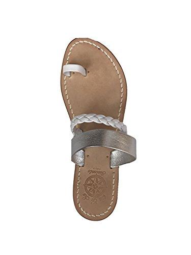 40 Sandali 100 Moda Positano Medio Donna Beatrice Capri Tacco Bianco in Artigianali Argento Made Personalizzabile Italy Sorrento Modello OqrwOE