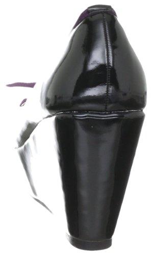 Chaussures amp; Paspel Schleife Noir Noir verni Femmes Vlan Lila Schwarz Crocodile UqBf5B