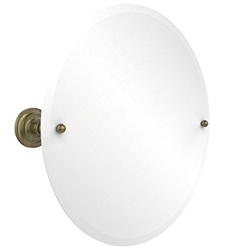 Allied Brass PQN-90-ABR  22-Inch Round Tilt Mirror, Antiq...