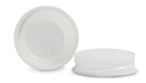 Qorpak CAP-06642 White Metal Cap with Plastisol Liner, 38-400 Neck Finish (Case of 576)