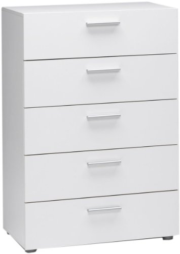 Tvilum Austin 5-Drawer Dresser, White