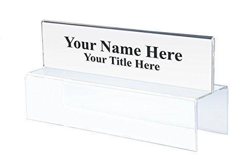 Double-Sided Office Cubicle Nameplate Sign Frame