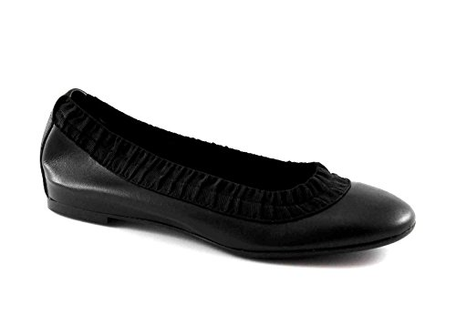 stretch 70N3 leather black ballerinas women FRAU Nero shoes WFzqqI