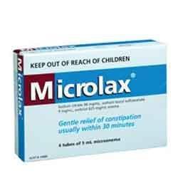 Les lavements Microlax de 5ml 4