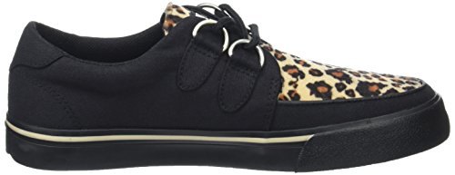 T Leopard Canvas A9181 Black Black Animal Canvas and Men's Leopard Black Black U K Print Sneakers r7Aqw6rx