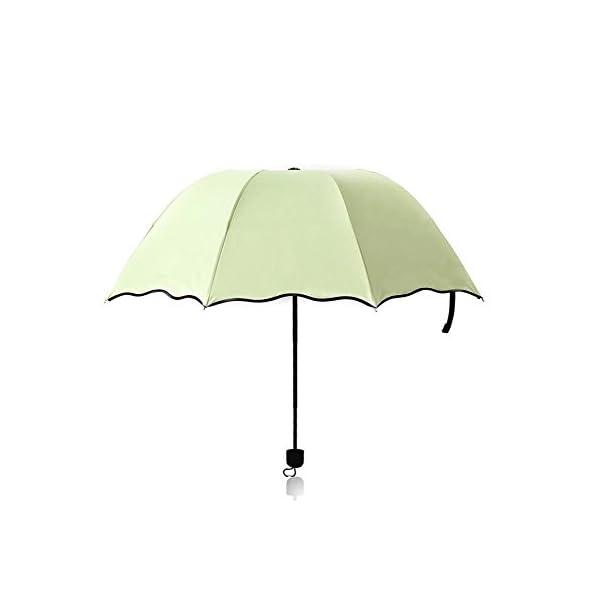 Shuda-Mini Donna Piccolo Ombrellone Moda Pieghevole Parasole,Ombrello per Protezione Solare UV Antipioggia, 25 * 4cm 3 spesavip