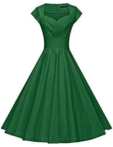 GownTown Womens Dresses Party Dresses 1950s Vintage Dresses Swing Stretchy Dresses]()