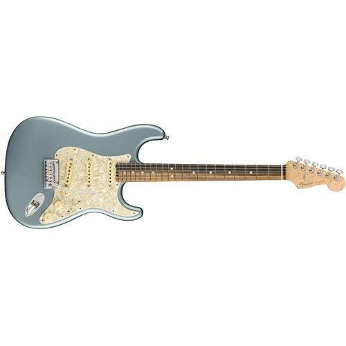 Fender American Elite Stratocaster Electric Guitar (Satin Ice Blue Metallic, Ebony Fingerboard)