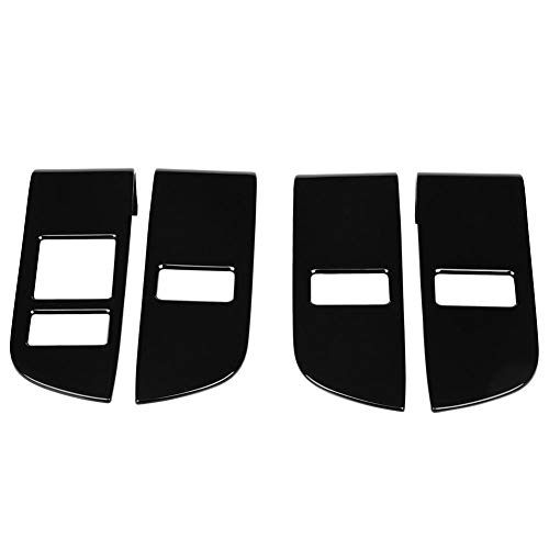 4Pcs Door Lock Switch Panel Trim Car Child Safety Door Lock Switch Panel Cover Trim 4Pcs ABS Chrome Interior for Land Rover Discovery 5 2017-2018 ()