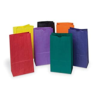 "Pacon Rainbow Bags, 6"" x 3 5/8"" x 11"", Pack Of 28"