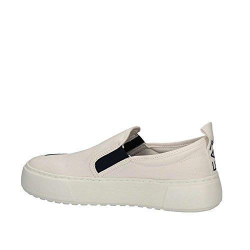 Emporio Armani EA7 Damen Mokassins Slip On Sneakers master Weiß White