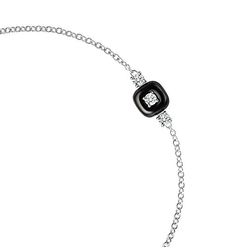 Nikos Koulis femme  18carats (750/1000)  Or blanc #Gold Rond   Blanc Diamant