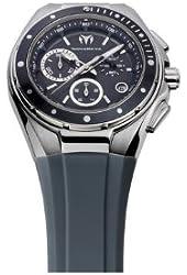 TechnoMarine Unisex 110008 Cruise Steel Chronograph Dark Grey Dial Watch