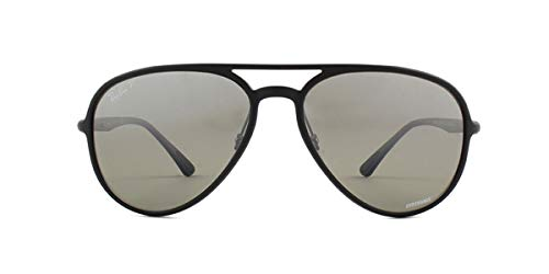 Ray-Ban 0rb4320ch Polarized Aviator Sunglasses, Matte Black, 58 mm ()