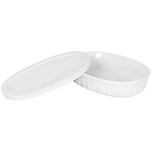 CorningWare French White 15-Ounce Oval Dish (French Ceramic Cookware compare prices)