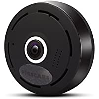 FV-3601 WiFi IP Security Camera HD1080P FishEye Mini Panoramic /black