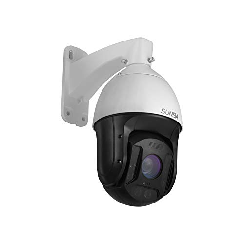 SUNBA 25X Optical Zoom 3MP IP PoE+ Outdoor PTZ Camera, Built-in Mic High Speed ONVIF Security PTZ Dome, Auto-Focus and up to 1000ft Night Vision (601-D25X) (3000x Zoom)