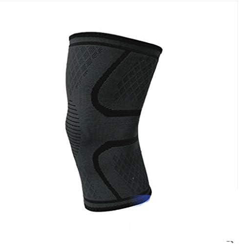 IhDFR スポーツ膝パッド、膝サポータースポーツ膝パッドはシリコーンアンチスキッドサイクリング登山はバドミントンバスケットボール、レッド、ブラックの実行します (Color : Black, Size : M:35-38cm)