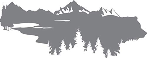 Grizzly's World - The Great Outdoors Series - Etched Decal - For Shower Doors, Glass Doors and Windows - 11.25