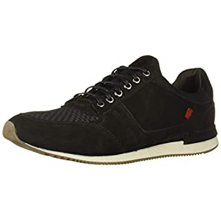 Marc Joseph New York Men's Genuine Leather Made in Brazil Luxury Fashion Trainer Sneaker, Black Nubuck, 9 M US