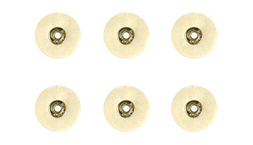 Set of 4 Unmounted Soft Felt Brushes - 25 x 1P Jewelry Polishing Metal Finishing Rotary Tool