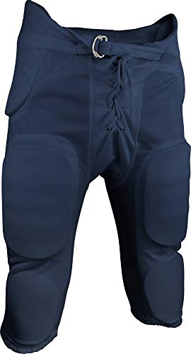 Sports Unlimited Double Knit Youth Integrated Football Pants, Navy, XX-Small