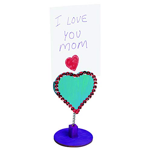 Colorations LOVENOTE Wooden Bobble Heart Note Holders (Pack of 12)