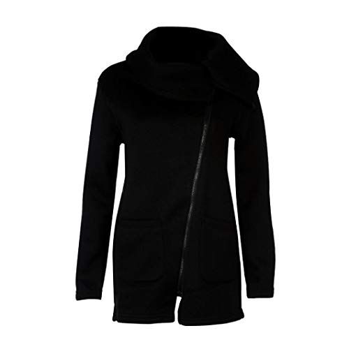omen Winter Zipper Blouse Hoodie Hooded Sweatshirt Coat Jacket(Black,M) ()