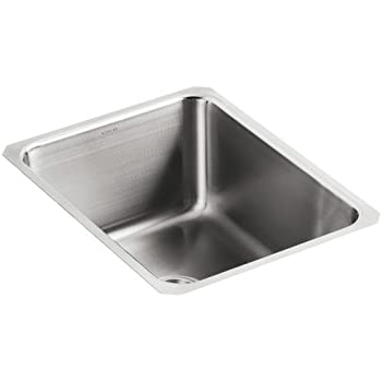 Kohler K 3163 Na Undertone Squared Single Basin Undercounter Kitchen Sink 9 1 2 Deep Stainless Steel
