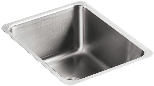 Kohler K-3163-NA Undertone Squared Single-Basin Undercounter Kitchen Sink, 9-1/2