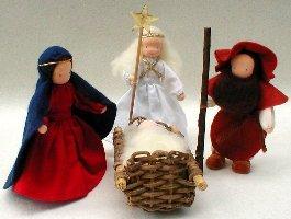 Holy Family With Angel, Nativity Set