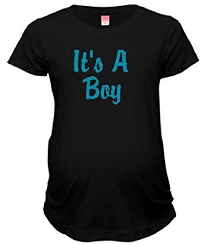 It's a boy maternity shirt gender reveal surprise having a boy pregnancy announcement