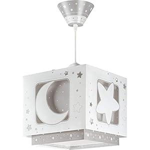 Dalber Lampe de Plafond - Suspension Carrée - Lune - Gris 12
