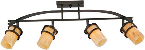 (Quoizel KY1404IB Kyle Rustic Track Light Kit, 4-Light, 400 Watts, Imperial Bronze (15