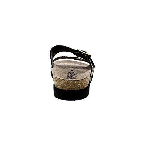Mephisto Womens Harmony Cuba Black/Gold Dual Strap Sandals Black QRfvLJbund